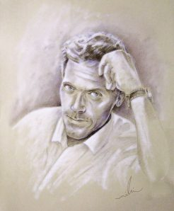Brown Pencil and White Pastel - 60 x 50 cm - 2009 -   by Miki