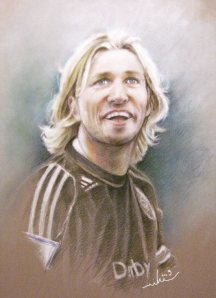 Robbie Savage - Pastel & Coloured Pencils, 50 x 65 cm - 2009